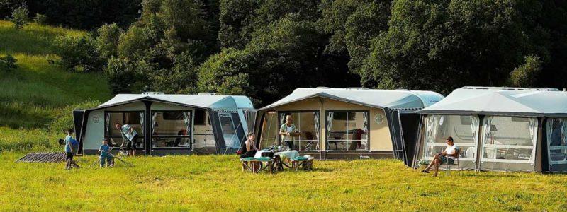 Camping met caravans
