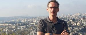 Jan Ties Sikkema tijdens de reis in Jeruzalem
