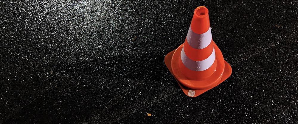 ongeval met gipsplaten op de snelweg