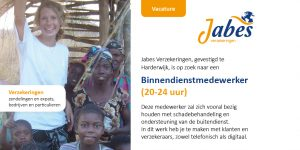 Vacature Binnendienst medewerker Jabes Verzekeringen