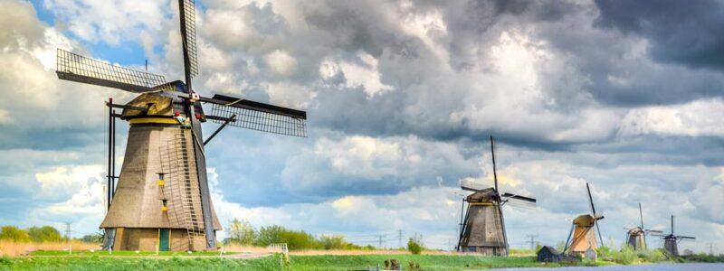 Molens in Kinderdijk Nederland