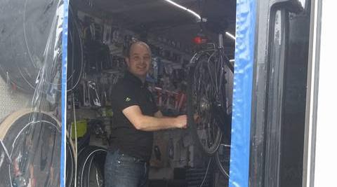 Mobiele werkplaats fietsbeter